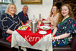 Enjoying the evening in Cassidys on Friday, l to r: Ita and Steven O'Brien and Bernie and Regan McMahon