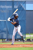 Tampa Bay Rays Gionti Turner bats during an Extended Spring Training intrasquad game on June 15, 2021 at Charlotte Sports Park in Port Charlotte, Florida.  (Mike Janes/Four Seam Images)