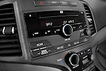 Stereo audio system close up detail view of a 2009 Toyota Venza