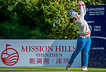 Ji Hyun Kim of Korea in action during the Hyundai China Ladies Open 2014 at World Cup Course in Mission Hills Shenzhen on December 13 2014, in Shenzhen, China. Photo by Li Man Yuen / Power Sport Images