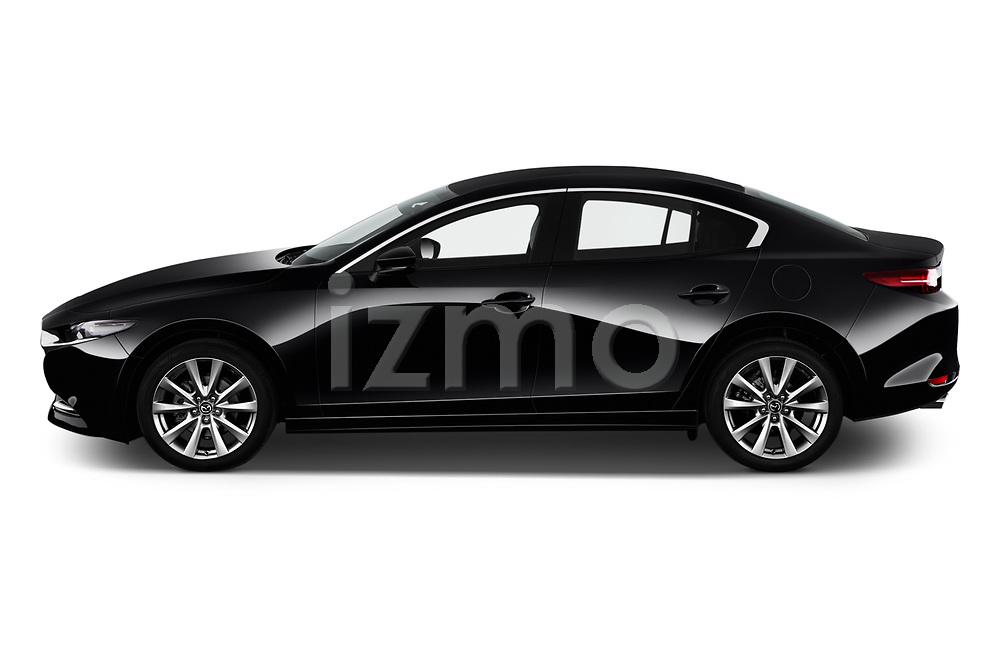 Car Driver side profile view of a 2020 Mazda Mazda3 Skycruise 4 Door Sedan Side View