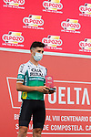 Julen Amezqueta (ESP) Caja Rural-Seguros RGA from yesterday's stage at sign on before Stage 10 of La Vuelta d'Espana 2021, running 189km from Roquetas de Mar to Rincón de la Victoria, Spain. 24th August 2021.     <br /> Picture: Cxcling   Cyclefile<br /> <br /> All photos usage must carry mandatory copyright credit (© Cyclefile   Cxcling)