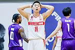 Soo Yan Lok #11 of Nam Ching Basketball Team reacts during the Hong Kong Basketball League game between Nam Ching and  HKPA at Southorn Stadium on June 12, 2018 in Hong Kong. Photo by Yu Chun Christopher Wong / Power Sport Images