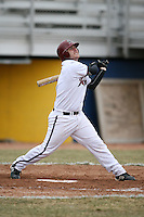 March 22nd 2009:  Designated Hitter Eric Woodrow (5) of the Rider University Broncs during a game at Sal Maglie Stadium in Niagara Falls, NY.  Photo by:  Mike Janes/Four Seam Images