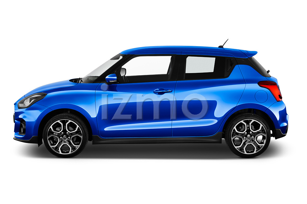 Car driver side profile view of a 2018 Suzuki Swift Sport Base 5 Door Hatchback
