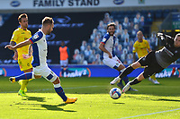 Blackburn Rovers' Adam Armstrong scores his side's third goal <br /> <br /> Photographer Richard Martin-Roberts/CameraSport<br /> <br /> The EFL Sky Bet Championship - Blackburn Rovers v Wycombe Wanderers - Saturday 19 September 2020 - Ewood Park - Blackburn<br /> <br /> World Copyright © 2020 CameraSport. All rights reserved. 43 Linden Ave. Countesthorpe. Leicester. England. LE8 5PG - Tel: +44 (0) 116 277 4147 - admin@camerasport.com - www.camerasport.com