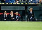 Nederland, Rotterdam, 11 mei 2015<br /> Eredivisie<br /> Seizoen 2014-2015<br /> Feyenoord-Vitesse<br /> Trieste gezichten bij de bank van Feyenoord. Rechts Fred Rutten, trainer-coach van Feyenoord