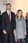 Prince Felipe of Spain and Princess Letizia of Spain  attend the inauguration of ARCO Contemporary Art Fair 2013 at Ifema. February 14, 2013. (ALTERPHOTOS/Caro Marin)
