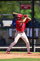 Philadelphia Phillies Jose Cedeno (16) bats during an Extended Spring Training game against the Toronto Blue Jays on June 12, 2021 at the Carpenter Complex in Clearwater, Florida. (Mike Janes/Four Seam Images)