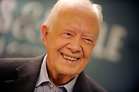 NEW YORK, NY - JULY 07: Former President of the United States Jimmy Carter signs copies of 'Full Life: Reflections at Ninety'at Barnes & Noble, 5th Avenue on July 7, 2015 in New York City<br /> <br /> <br /> People:  Jimmy Carter