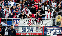CARSON, CA - FEBRUARY 9: American Outlaws of the United States during a game between Canada and USWNT at Dignity Health Sports Park on February 9, 2020 in Carson, California.
