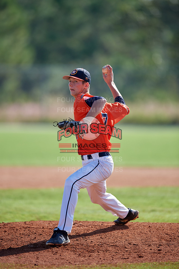 Ben Vespi during the WWBA World Championship at the Roger Dean Complex on October 20, 2018 in Jupiter, Florida.  Ben Vespi is a right handed pitcher from Boynton Beach, Florida who attends American Heritage High School and is committed to UCF.  (Mike Janes/Four Seam Images)