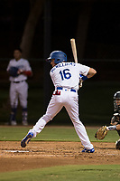 AZL Dodgers designated hitter Sam McWilliams (16) at bat during an Arizona League game against the AZL White Sox at Camelback Ranch on July 3, 2018 in Glendale, Arizona. The AZL Dodgers defeated the AZL White Sox by a score of 10-5. (Zachary Lucy/Four Seam Images)