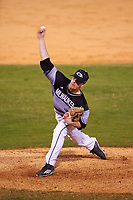 Wisconsin-Milwaukee Panthers relief pitcher Zach Brenner (20) delivers a pitch during a game against the Ball State Cardinals on February 26, 2016 at Chain of Lakes Stadium in Winter Haven, Florida.  Ball State defeated Wisconsin-Milwaukee 11-5.  (Mike Janes/Four Seam Images)