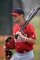 St. Louis Cardinals infielder Brett Wiley (3) before a minor league spring training intrasquad game on March 28, 2014 at the Roger Dean Stadium Complex in Jupiter, Florida.  (Mike Janes/Four Seam Images)
