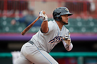Akron RubberDucks Wilson Garcia (11) at bat during an Eastern League game against the Erie SeaWolves on June 2, 2019 at UPMC Park in Erie, Pennsylvania.  Akron defeated Erie 7-2 in the first game of a doubleheader.  (Mike Janes/Four Seam Images)