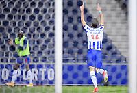 30th April 2021; Dragao Stadium, Porto, Portugal; Portuguese Championship 2020/2021, FC Porto versus Famalicao; Marko Grujic of FC Porto celebrates his penalty kick goal in the 75th minute for 3-1