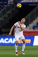 Harrison, NJ - Thursday March 01, 2018: Aaron Long. The New York Red Bulls defeated C.D. Olimpia 2-0 (3-1 on aggregate) during a 2018 CONCACAF Champions League Round of 16 match at Red Bull Arena.