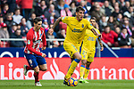 Gabriel Martin Penalba (R) of UD Las Palmas in action during the La Liga 2017-18 match between Atletico de Madrid and UD Las Palmas at Wanda Metropolitano on January 28 2018 in Madrid, Spain. Photo by Diego Souto / Power Sport Images