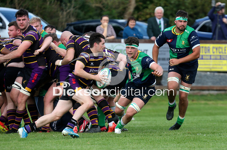 Saturday 25th September 2021<br /> <br /> Matthew Keane during the Ulster Conference League clash between Ballynahinch 2s and Instonians at Ballymacarn Park, Ballynahinch, County Down, Northern Ireland. Photo by John Dickson/Dicksondigital