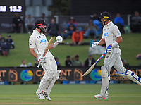 NZ's Daryl Mitchell celebrates his maiden test century during day three of the second International Test Cricket match between the New Zealand Black Caps and Pakistan at Hagley Oval in Christchurch, New Zealand on Tuesday, 5 January 2021. Photo: Dave Lintott / lintottphoto.co.nz