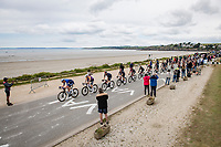 peloton riding along the Breton sea front<br /> <br /> Stage 1 from Brest to Landerneau (198km)<br /> 108th Tour de France 2021 (2.UWT)<br /> <br /> ©kramon