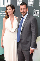"""Adam Sandler and wife,Jackie<br /> arriving for the London Film Festival 2017 screening of """"The Meyerowitz Stories"""" at the Embankment Gardens Cinema, London<br /> <br /> <br /> ©Ash Knotek  D3319  06/10/2017"""