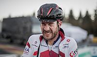 Julien Taramarcaz (SUI/ERA-Circus) post-race<br /> <br /> 2016 CX Superprestige Spa-Francorchamps (BEL)