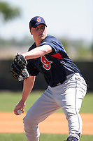 Cleveland Indians minor leaguer Cody Bunkelman during Spring Training at the Chain of Lakes Complex on March 17, 2007 in Winter Haven, Florida.  (Mike Janes/Four Seam Images)