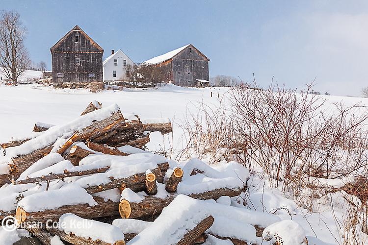 A Northeast Kingdom farm in Barnet, Vermont, USA