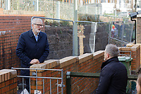Pictured: Jeremy Corbyn with local resident Richard Oliver whose house suffered flood damage. Thursday 20 February 2020<br /> Re: Jeremy Corbyn, the leader of the Labour Party visits the area of Rhydyfelin near Pontypridd, south Wales, UK.
