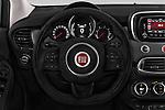 Car pictures of steering wheel view of a 2016 Fiat 500X Trekking-Plus-4WD 5 Door SUV Steering Wheel