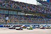 Monster Energy NASCAR Cup Series<br /> GEICO 500<br /> Talladega Superspeedway, Talladega, AL USA<br /> Sunday 7 May 2017<br /> Kyle Busch, Joe Gibbs Racing, Skittles Red, White, & Blue Toyota Camry and Denny Hamlin, Joe Gibbs Racing, FedEx Express Toyota Camry<br /> World Copyright: Nigel Kinrade<br /> LAT Images<br /> ref: Digital Image 17TAL1nk07179