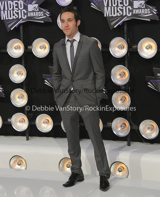 Pete Wentz at The 2011 MTV Video Music Awards held at Nokia Theatre L.A. Live in Los Angeles, California on August 28,2011                                                                   Copyright 2011  DVS / Hollywood Press Agency