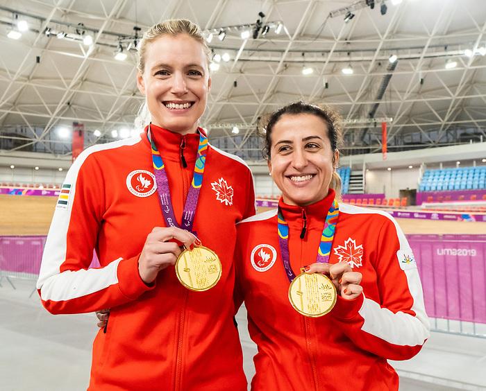 Carly Shibley and Meghan Lemiski - Lima 2019. Para Cycling // Paracyclisme.<br /> Carly Shibley and Meghan Lemiski (guide) took the gold in Para Cycling // Carly Shibley et Meghan Lemiski (guide) ont remporté la médaille d'or en para cyclisme. 26/08/2019.