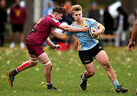 Henry Bell in action during the Otago premier club rugby union match between University and AU Broncos at Logan Park in Dunedin, New Zealand on Saturday, 4 July 2020. Photo: Joe Allison / lintottphoto.co.nz