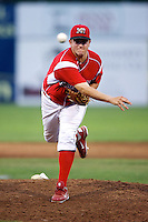 Batavia Muckdogs pitcher Joe Scanio #33 during a game against the Connecticut Tigers at Dwyer Stadium on July 4, 2012 in Batavia, New York.  Batavia defeated Connecticut 8-2.  (Mike Janes/Four Seam Images)