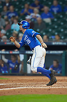Luke Heyer (26) of the Kentucky Wildcats hustles down the first base line against the Louisiana Ragin' Cajuns in game seven of the 2018 Shriners Hospitals for Children College Classic at Minute Maid Park on March 4, 2018 in Houston, Texas.  The Wildcats defeated the Ragin' Cajuns 10-4. (Brian Westerholt/Four Seam Images)