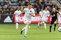 LOS ANGELES, CA - MARCH 01: Robbie Robinson #19 of Inter Miami CF advances the ball in a match against LAFC during a game between Inter Miami CF and Los Angeles FC at Banc of California Stadium on March 01, 2020 in Los Angeles, California.