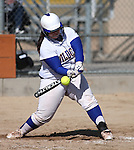 Western Nevada College's Cara McCarthy has an at-bat during a college softball game against Colorado Northwestern Community College in Carson City, Nev., on Friday, Feb. 22, 2013. .Photo by Cathleen Allison