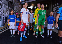 PASADENA, CA - AUGUST 4: Carli Lloyd #10 stands in the tunnel during a game between Ireland and USWNT at Rose Bowl on August 3, 2019 in Pasadena, California.