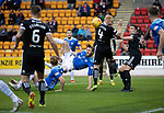 St Johnstone v Hamilton Accies…10.11.18…   McDiarmid Park    SPFL<br />Murray Davidson's overhead kick is blocked<br />Picture by Graeme Hart. <br />Copyright Perthshire Picture Agency<br />Tel: 01738 623350  Mobile: 07990 594431