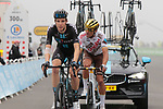 Nils Eekhoff (NED) Team DSMand Olympic Champion Greg Van Avermaet (BEL) AG2R Citroën Team on the final climb of Luz-Ardiden during Stage 18 of the 2021 Tour de France, running 129.7km from Pau to Luz-Ardiden, France. 15th July 2021.  <br /> Picture: Colin Flockton   Cyclefile<br /> <br /> All photos usage must carry mandatory copyright credit (© Cyclefile   Colin Flockton)
