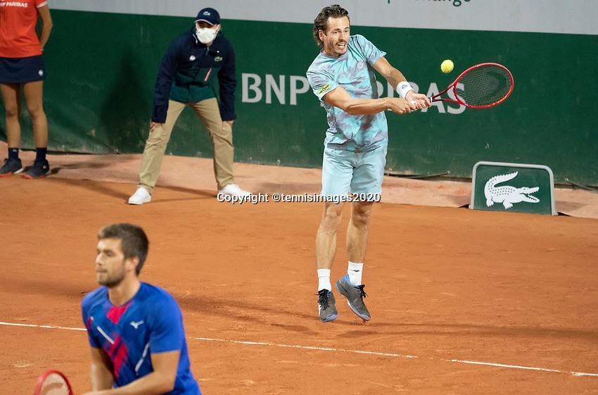 Paris, France, 30 May, 2020, Tennis, French Open, Roland Garros, Men's doubles: Wesley Koolhof (NED) (R) and Nikola Mektic (CRO)<br /> Photo: Susan Mullane/tennisimages.com