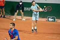 Paris, France, 30 May, 2020, Tennis, French Open, Roland Garros, Men's doubles: Wesley Koolhof (NED) (R) and Nikola Mektic (CRO)<br /> Photo: Susan Mullane/tennisimages.com