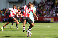 Bryan Mbeumo of Brentford in action during Brentford vs Brighton & Hove Albion, Premier League Football at the Brentford Community Stadium on 11th September 2021