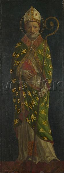 Full title: Saint Ambrose (?)<br /> Artist: Style of Ambrogio Bergognone<br /> Date made: late 15th century
