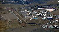 aerial photograph of the Chico Municipal Airport (CIC), Chico, Butte County, California