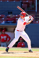 Illinois State Redbirds first baseman Zach Amrein #6 during a game vs. the Ohio State Buckeyes at Chain of Lakes Park in Winter Haven, Florida;  March 11, 2011.  Illinois defeated Ohio State 12-1.  Photo By Mike Janes/Four Seam Images