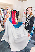 Dressing Christophe Guillarme modele Lady Victoria Hervey a la Villa díEstelle the 69th annual Cannes Film Festival at the Palais des Festivals on May 15, 2016 in Cannes, France